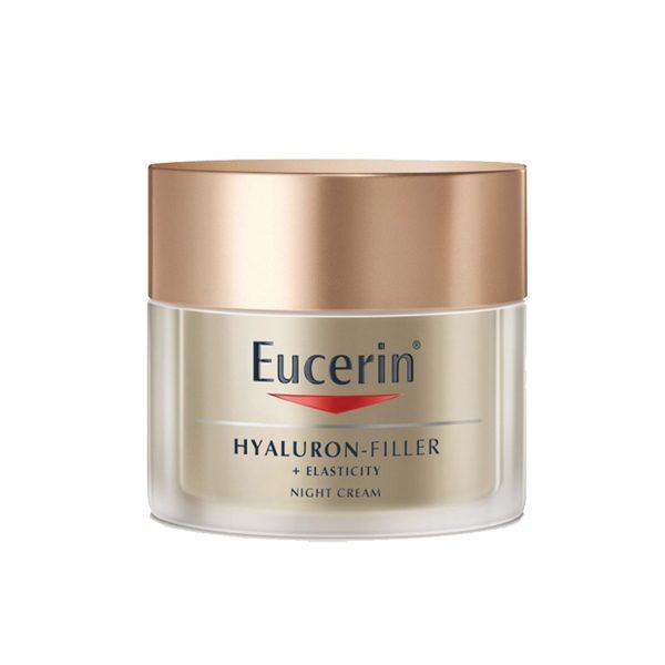 hyaluron elasticity night Eucerin 600x600 - کرم ضد چروک شب الاستیسیتی اوسرین