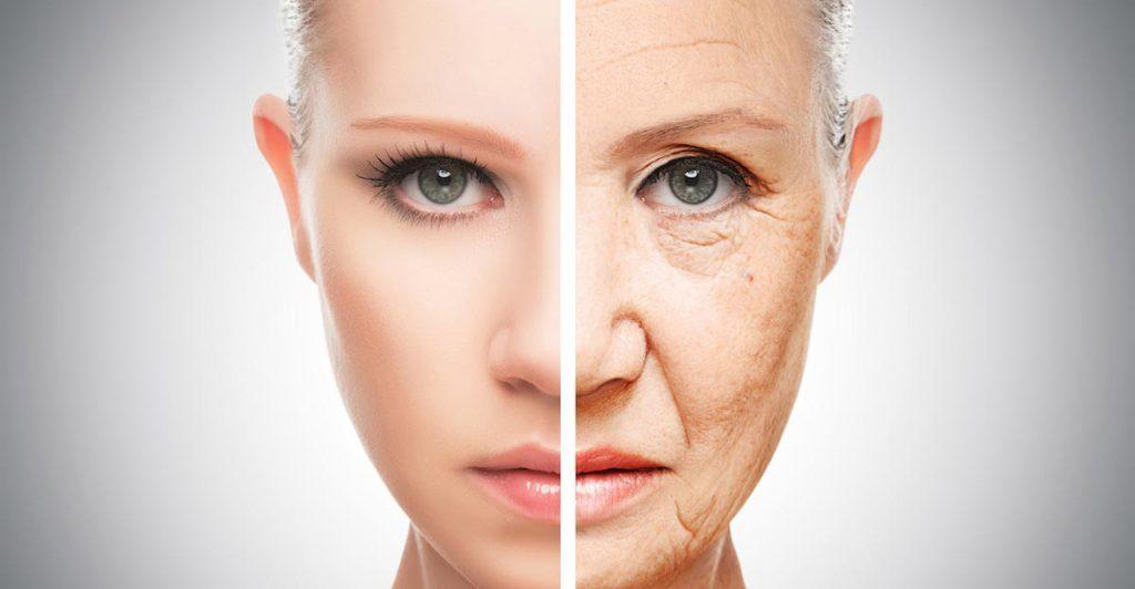 Woman Old Young Aging Face 1024x532 - اشتباهاتی که شما را مسنتر از سنتان نشان میدهد