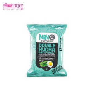 دستمال مرطوب آبرسان نینو مدل Double Hydra بسته 27 عددی