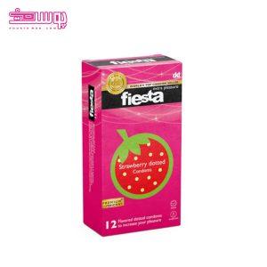 کاندوم خاردار فیستا مدل Strawberry Dotted