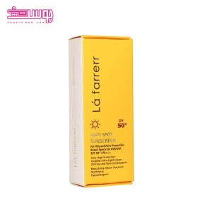ضد آفتاب ضد لک لافارر SPF50 مناسب پوست های چرب