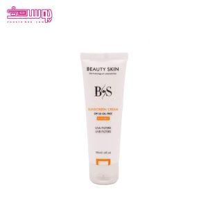 ضدآفتاب بی رنگ بیوتی اسکین SPF50 مناسب پوست های چرب