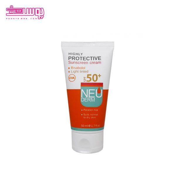 ضد آفتاب رنگی نئودرم مناسب پوست خشک SPF50 حجم 50ml