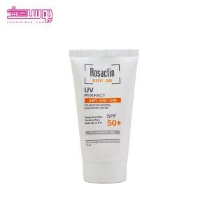 ضد آفتاب بی رنگ رزاکلین مناسب پوست نرمال و خشک SPF 50 حجم 50ml